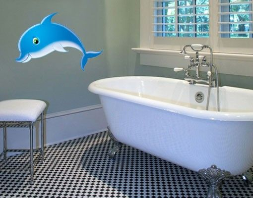 Wandtattoo Babyzimmer No.15 Delfin