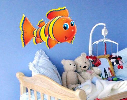 Wandtattoo Babyzimmer No.6 Streifen Fischlein