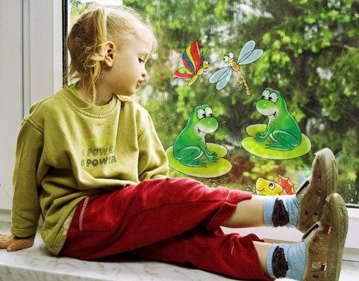 Fensterfolie - Fenstersticker No.14 Froschkonzert - Fensterbilder