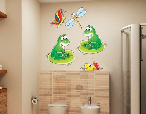 Wandtattoo Kinderzimmer No.14 Froschkonzert