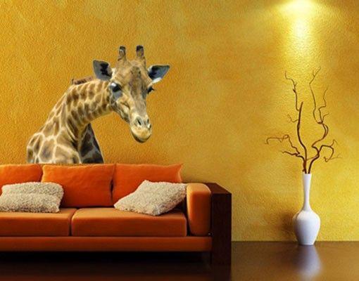 Wandtattoo Giraffe No.21 Neugierige Giraffe