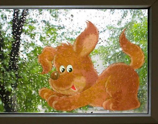 Fensterfolie - Fenstersticker No.28 Willi der Hund - Fensterbilder