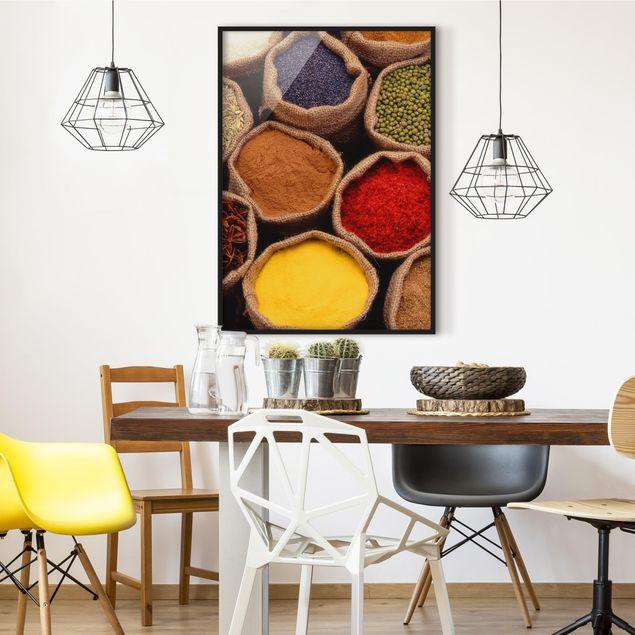 Bild mit Rahmen - Colourful Spices - Hochformat 3:4
