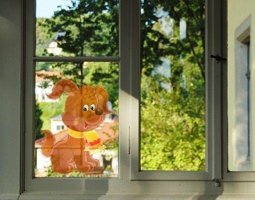 Fensterfolie - Fenstersticker No.29 John der Hund - Fensterbilder