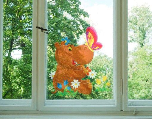 Fensterfolie - Fenstersticker No.46 Nilpferd - Fensterbilder