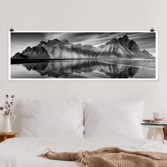 Poster - Vesturhorn in Island - Panorama Querformat