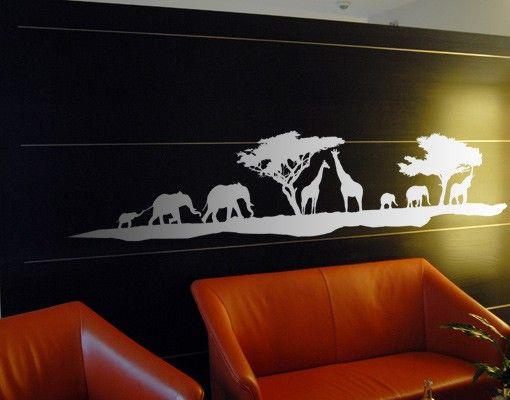 Wandtattoo Elefant Giraffe No.TM13 Safari II