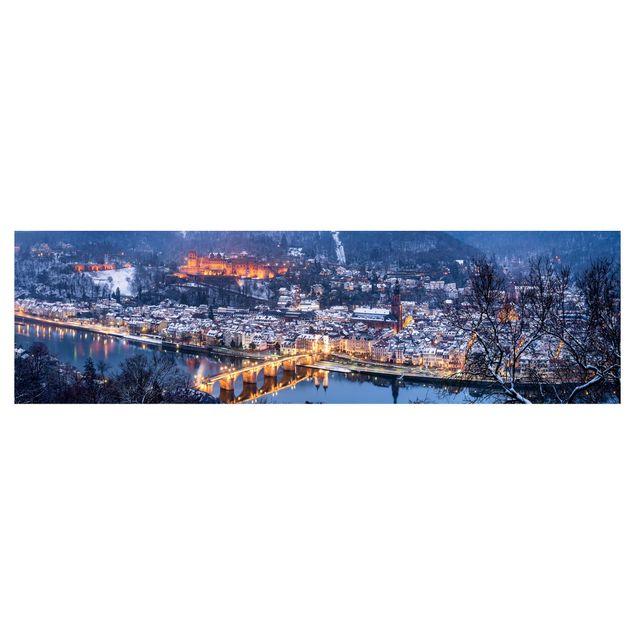 Küchenrückwand - Winterliches Heidelberg