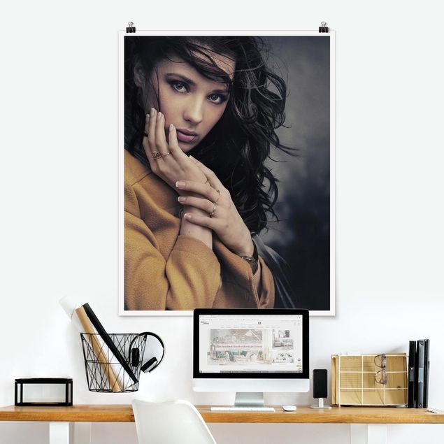 Poster - She is waiting for you - Hochformat 3:4