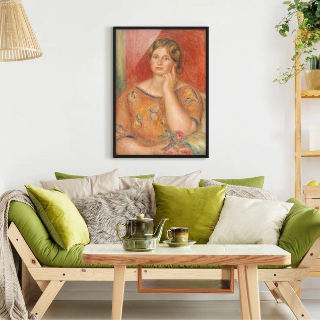Bild mit Rahmen - Auguste Renoir - Frau Osthaus - Hochformat 3:4