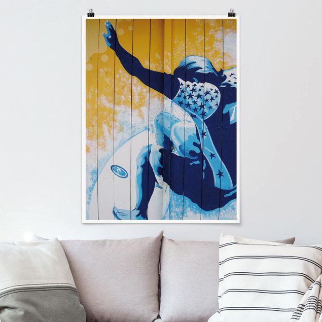 Poster - Surfing - Hochformat 3:4