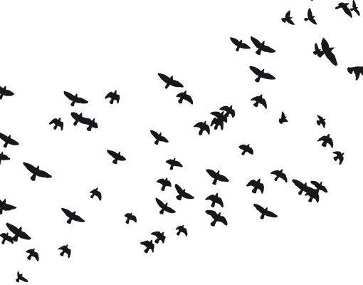 Wandtattoo Vögel No.KP22 Vogelschwarm II