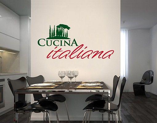 Wandtattoo No.SF507 Cucina Italiania