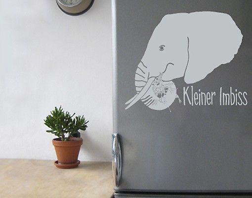 Wandtattoo Elefant No.UL265 kleiner Imbiss