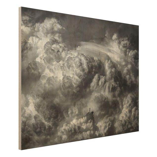 Holzbild - Ein Sturm zieht auf - Querformat 3:4