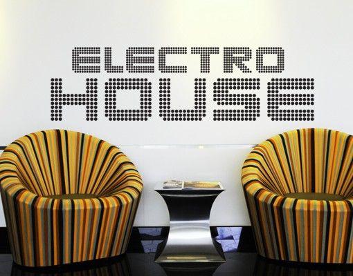 Wandtattoo Sprüche - Wandworte No.TM69 electro house