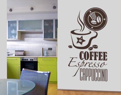 Wandtattoo Sprüche - Wandworte No.SF598 Coffee 5
