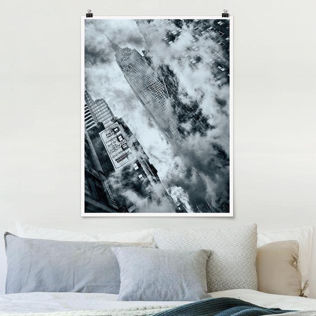 Poster - Fassade des Empire State Buildings - Hochformat 3:4