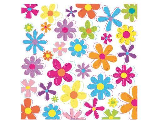Wandtattoo No.172 Retro Blumen