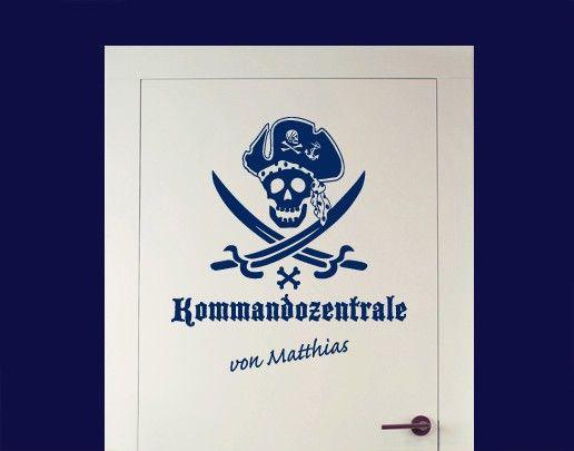 Wandtattoo Sprüche - Wandtattoo Namen No.SF622 Wunschtext Kommandozentrale