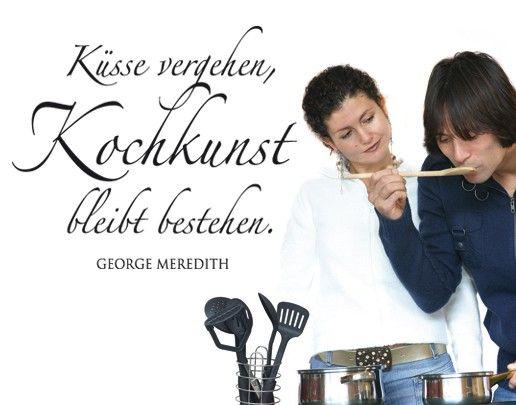 Wandtattoo Zitate - Wandzitate No.BR266 Kochkunst