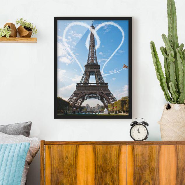Bild mit Rahmen - Paris - City of Love - Hochformat 3:4