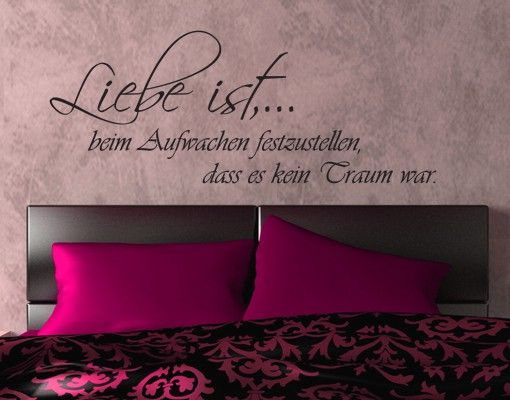 Wandtattoo Zitate - Wandzitate No.KP163 Liebe ist...
