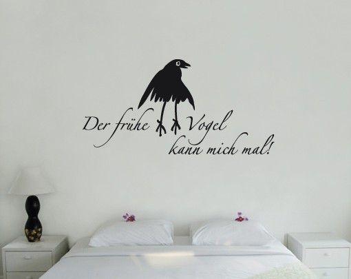 Wandtattoo Sprüche - Wandsprüche No.SF641 der frühe Vogel