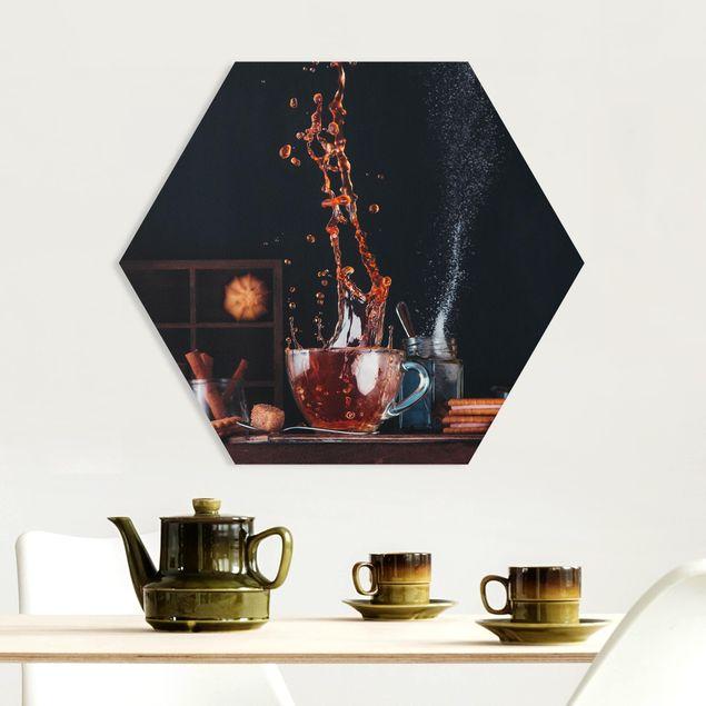 Hexagon Bild Forex - Tee Komposition
