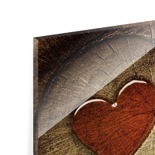Glas Spritzschutz - No.41 Natural Love Panorama - Quadrat - 1:1