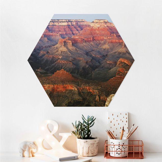 Hexagon Bild Alu-Dibond - Grand Canyon nach dem Sonnenuntergang