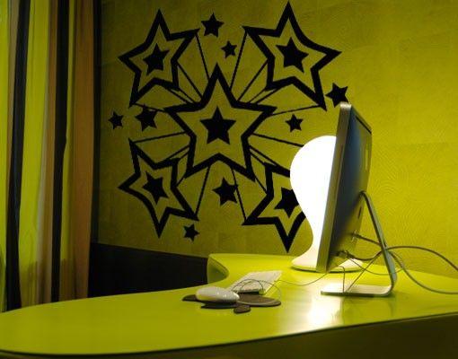 Wandtattoo Kinderzimmer No.AS5 star explosion