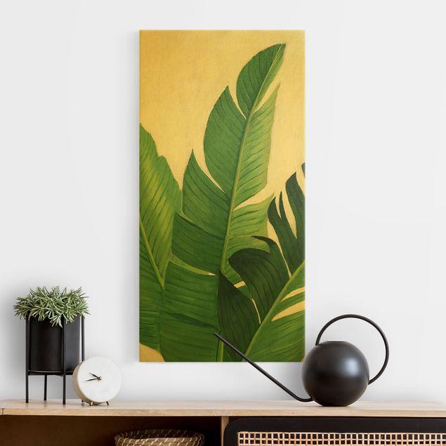 Leinwandbild Gold - Lieblingspflanzen - Banane - Hochformat 1:2