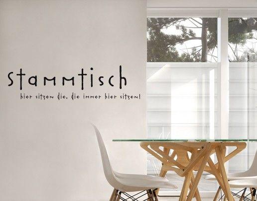 Wandtattoo Sprüche - Wandsprüche No.SF686 Stammtisch