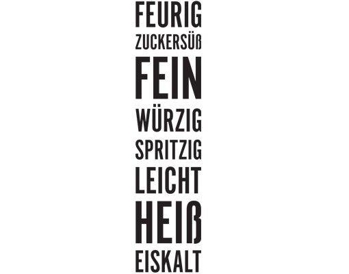 Wandtattoo Sprüche - Wandworte Tapete No.UL405 Küchenworte
