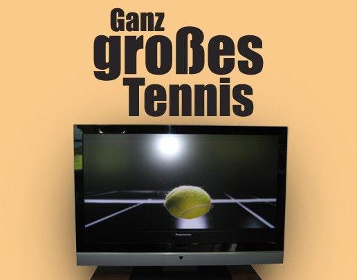 Wandtattoo Sprüche - Wandsprüche No.UL408 Ganz großes Tennis