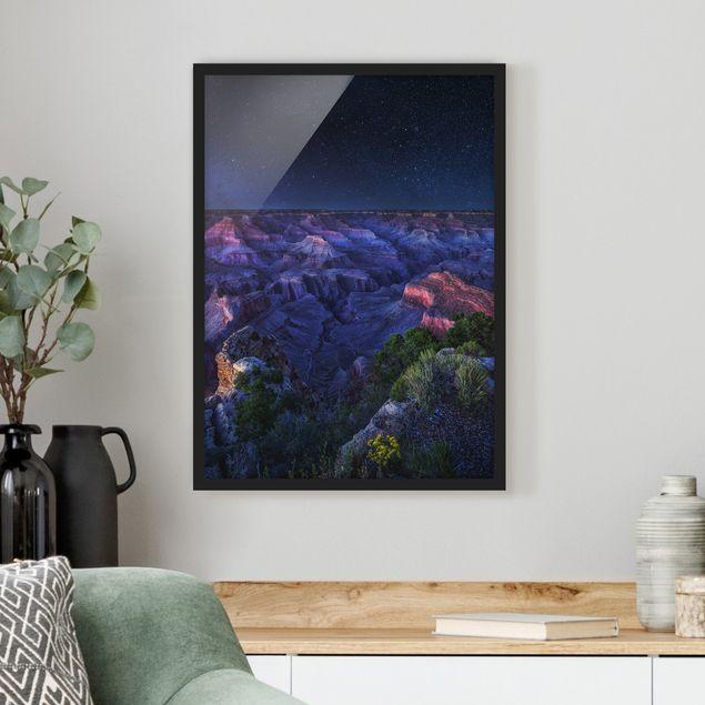 Bild mit Rahmen - Grand Canyon Night - Hochformat 3:4