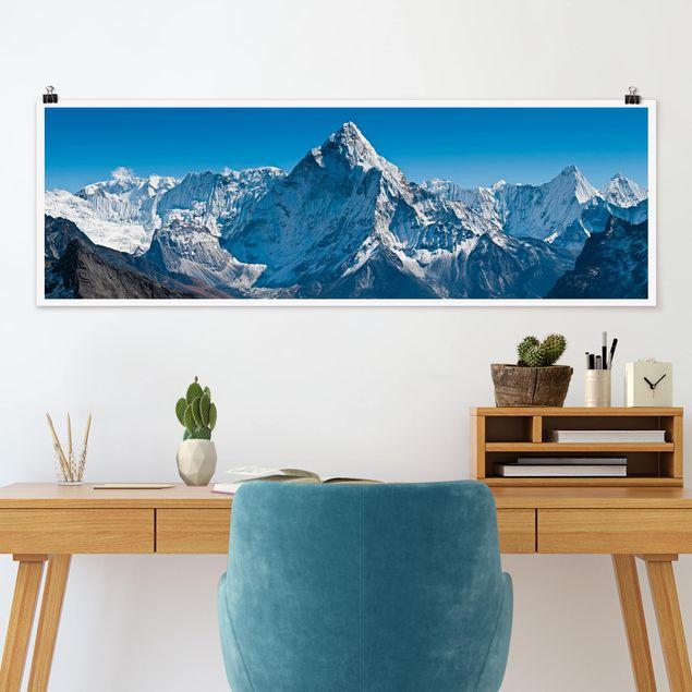 Poster - Der Himalaya - Panorama Querformat
