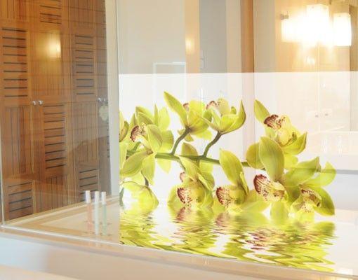 Fensterfolie - Sichtschutz Fenster Splendid Orchid Waters - Fensterbilder