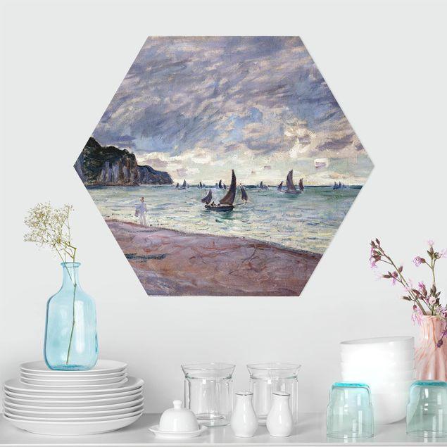 Hexagon Bild Forex - Claude Monet - Küste von Pourville