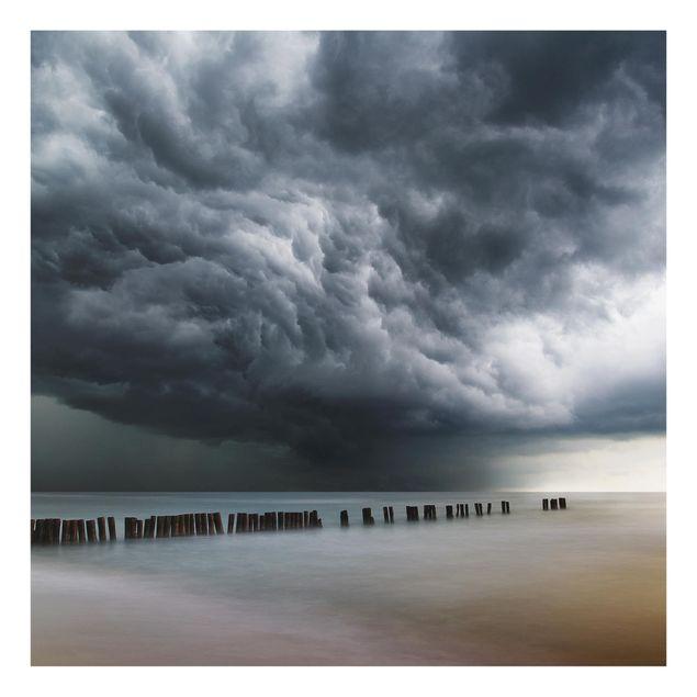 Glas Spritzschutz - Sturmwolken über der Ostsee - Quadrat - 1:1