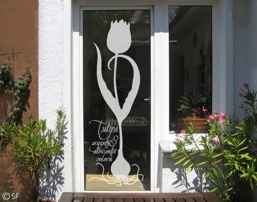 Fensterfolie - Fenstertattoo No.SF812 Tulipa - Milchglasfolie