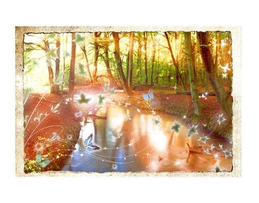 Fensterfolie - Sichtschutz Fenster No.CG86 Butterfly Wood - Fensterbilder