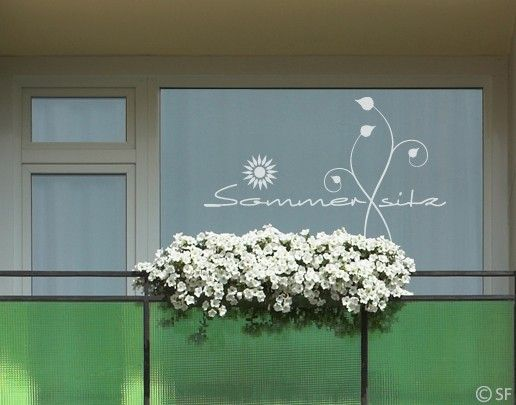 Fensterfolie - Fenstertattoo No.SF863 Sommersitz - Milchglasfolie