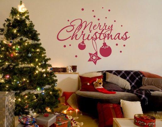 Wandtattoo Sprüche - Wandworte No.UL537 Merry Christmas