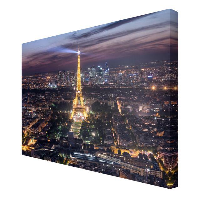 Leinwandbild - Good Night Paris - Querformat 3:2