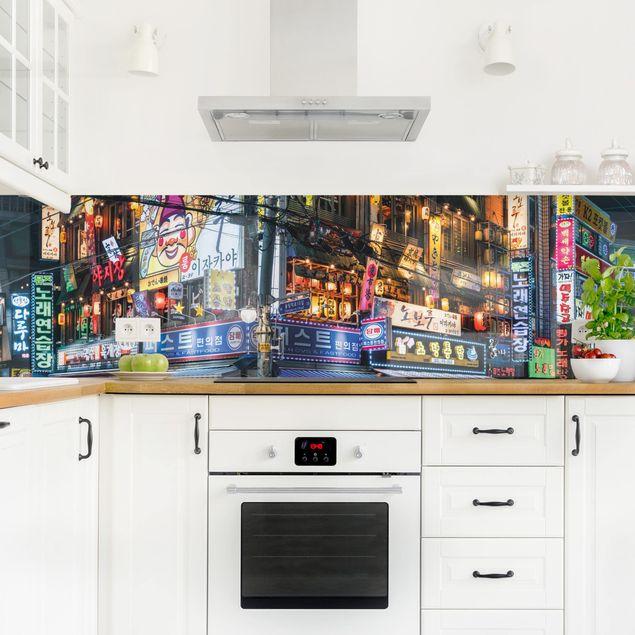 Küchenrückwand - Neonreklame