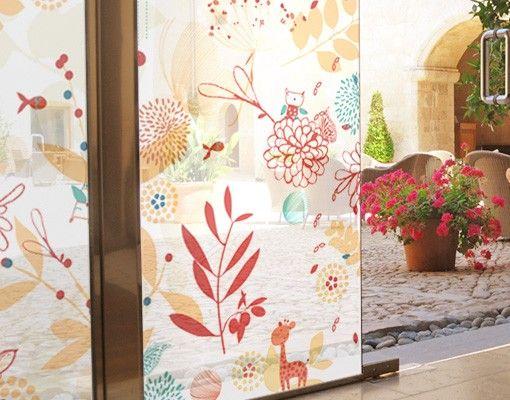 Fensterfolie - Sichtschutz Fenster Spring Garden - Fensterbilder