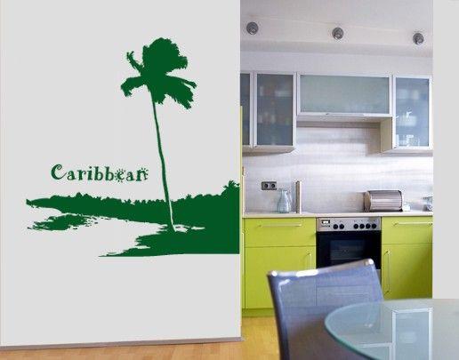 Wandtattoo Baum No.UL560 Carribean