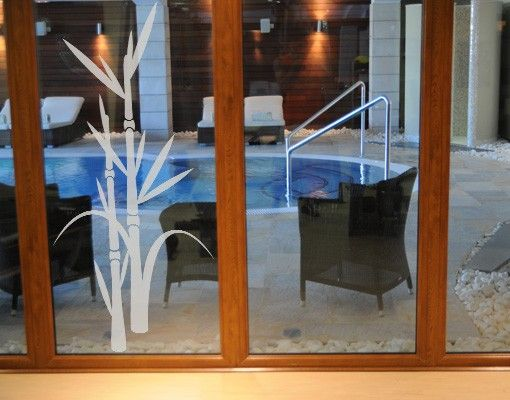 Fensterfolie - Fenstertattoo No.8 Bambus - Milchglasfolie